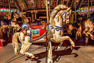 Carrousel Horse Ride Art Print by Garry Gay