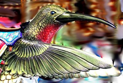 Carrousel Hummingbird Art Print by Diane Merkle
