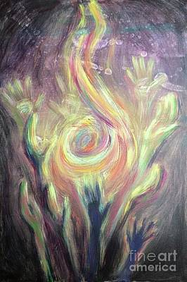 Painting - Carry The Fire by Lisa DuBois