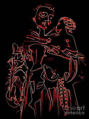 Digital Art - Carrying Christ by Ed Weidman