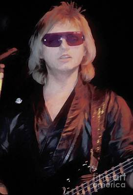 Photograph - Cars Benjamin Orr Oil Painting Enlargement by Concert Photos
