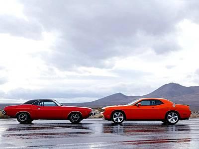 Challenger Digital Art - Cars Dodge Challenger Srt8                   by Fran Sotu