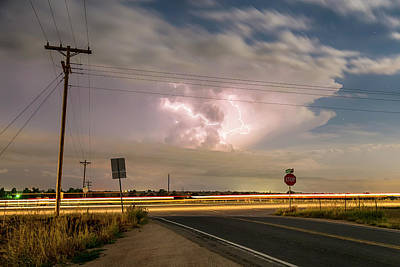 Photograph - Cars Lightning And Lines by James BO Insogna