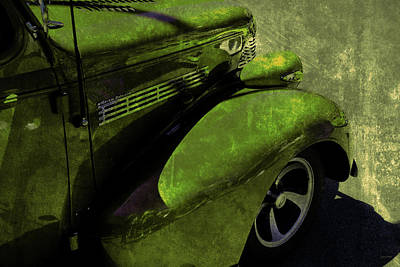 Photograph - Cars Master Deluxe Pavement Green by Lesa Fine