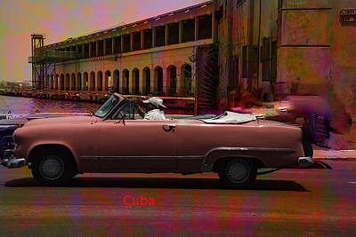 Photograph - Cars Of Cuba by Will Burlingham