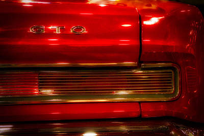 Cars Pontiac Gto Dreamy Red Art Print by Thomas Woolworth
