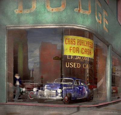 Photograph - Cars - Used - Cars Purchased For Cash 1943 by Mike Savad