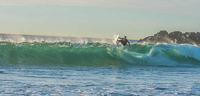 Photograph - Carsbad Surfer Cutting In by Bruce Pritchett