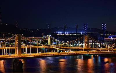 Photograph - Carson Bridge At Night by William Bartholomew