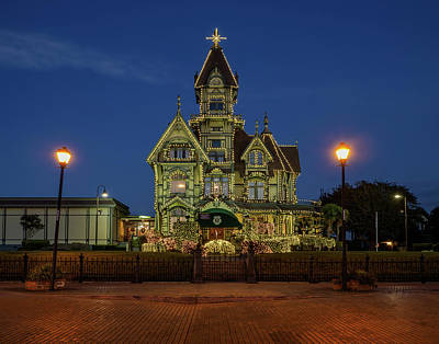 Photograph - Carson Mansion At Xmas 1 by Greg Nyquist
