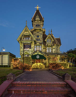 Photograph - Carson Mansion At Xmas 2 by Greg Nyquist
