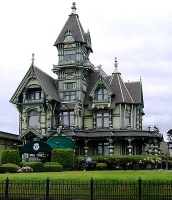 Photograph - Carson Mansion by Donna Starr