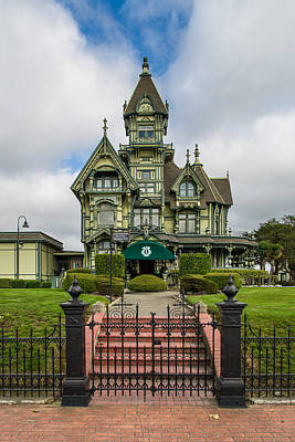 Photograph - Carson Mansion In Winter by Greg Nyquist