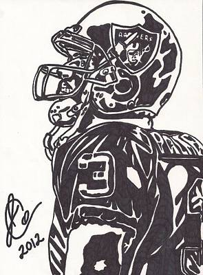 Oakland Raiders Drawing - Carson Palmer 1 by Jeremiah Colley