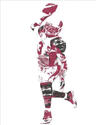 Cardinal Mixed Media - Carson Palmer Arizona Cardinals Pixel Art 5 by Joe Hamilton