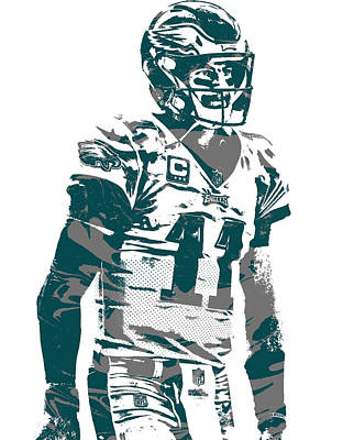 Mixed Media - Carson Wentz Philadelphia Eagles Pixel Art 20 by Joe Hamilton