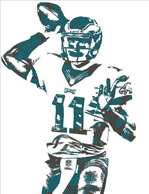 Mixed Media - Carson Wentz Philadelphia Eagles Pixel Art 6 by Joe Hamilton