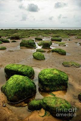 Broad Photograph - Carstone Rocks At Hunstanton  by John Edwards