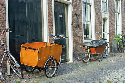 Photograph - Cart Bikes For Transporting Small Children To School by Patricia Hofmeester