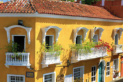 Photograph - Cartagena Architecture by John Rizzuto
