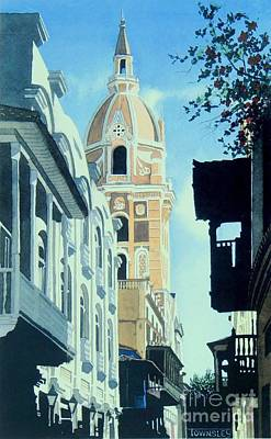 Painting - Cartagena Cathedral by Frank Townsley