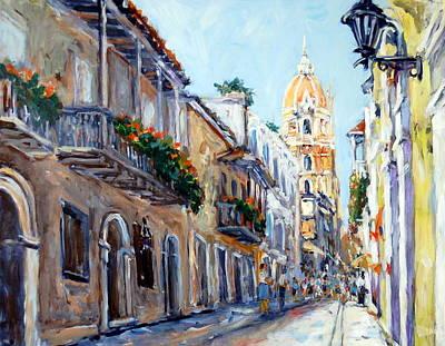 Cartagena Colombia Art Print by Alexandra Maria Ethlyn Cheshire