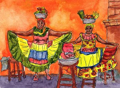 Painting - Cartagena Fruit Venders by Randy Sprout