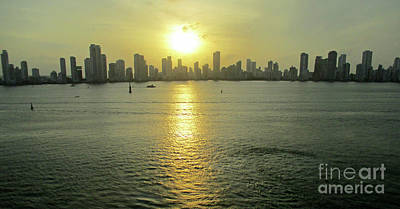 Photograph - Cartagena Sunset 1 by Randall Weidner