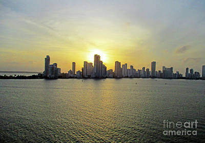 Photograph - Cartagena Sunset 2 by Randall Weidner
