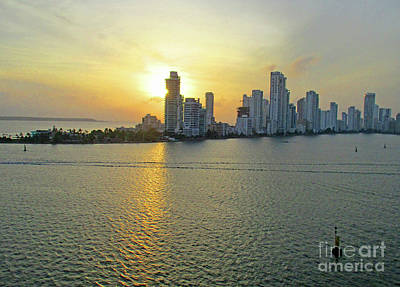 Photograph - Cartagena Sunset 4 by Randall Weidner