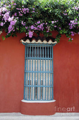 Photograph - Cartagena Windows 17 by Randall Weidner