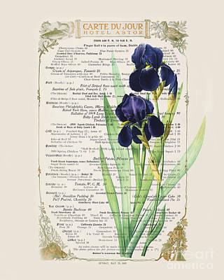 Irises Photograph - Carte Du Jour by Delphimages Photo Creations