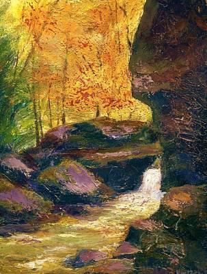 Art Print featuring the painting Carter Caves Kentucky by Gail Kirtz