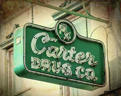 Photograph - Carter Drug Co by Stephen Stookey