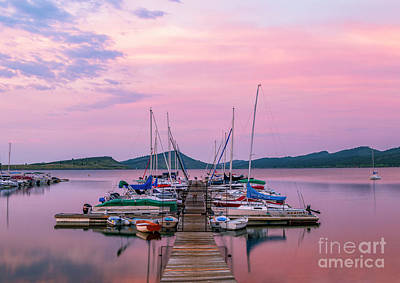 Photograph - Carter Lake Marina At Sunrise by Ronda Kimbrow