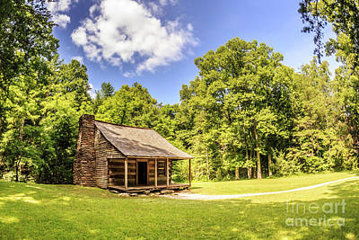 Photograph - Carter Shields Cabin by Gene Berkenbile