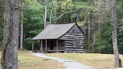 Photograph - Carter Shields Cabin In Cades Cove by Becky Erickson