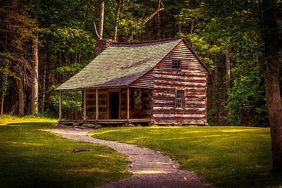 Photograph - Carter Shields Cabin Of Cades Cove by John Haldane