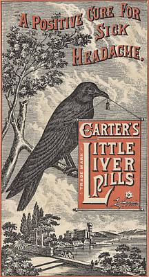 Headache Digital Art - Carter's Little Liver Pills Ephemera by Black Brook Photography