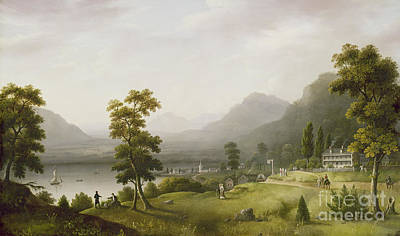 Hills Painting - Carter's Tavern At The Head Of Lake George by Francis Guy