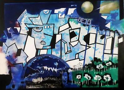 Painting - Cartesians Lines Prisoner by Adalardo Nunciato  Santiago