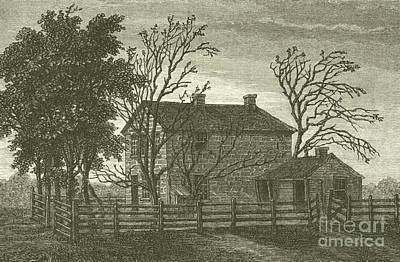 University Of Illinois Drawing - Carthage Il Prison  Scene Of The Death Of Joseph Smith by French School