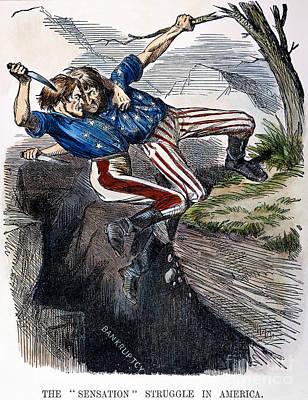 Photograph - Cartoon: Civil War, 1862 by Granger