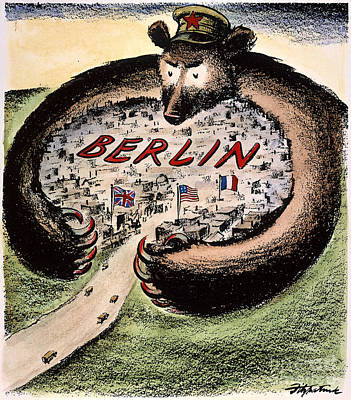 Cartoon: Cold War Berlin Art Print by Granger