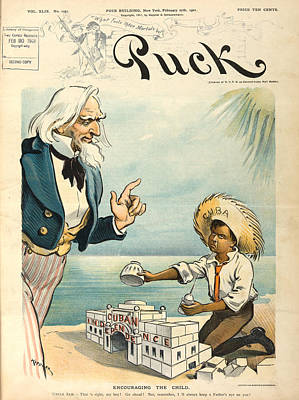 Photograph - Cartoon: Cuba, 1901 by Granger