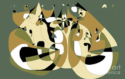 Digital Art - Cartoon Curves by Nancy Kane Chapman