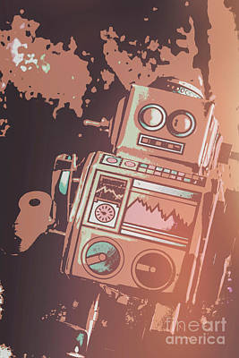 Electronic Photograph - Cartoon Cyborg Robot by Jorgo Photography - Wall Art Gallery