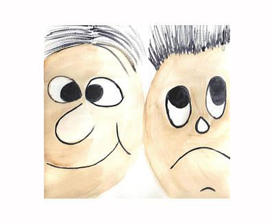 Cartoon Faces Art Print by Hema Rana