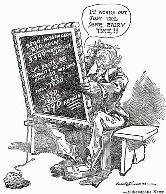 Cartoon From Indianapolis News Showing Art Print