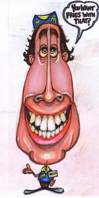 Mcdonalds Drawing - Cartoon No 60 by Edward Ruth